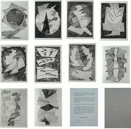 Jean Deyrolle - -CETTE CHOSE- Portfolio mit 10 Radierungen, handsig. v. J. Deyrolle und R. Pinget (Autor), 1967,num. kopen? Bied vanaf 590!