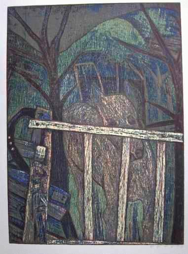 Esteban Fekete - - DAS PFERD - OriginalHolzschnitt des Großen UNGARISCHEN KOSMOLPOLITEN - handsigniert 50 x 40cm kopen? Bied vanaf 50!