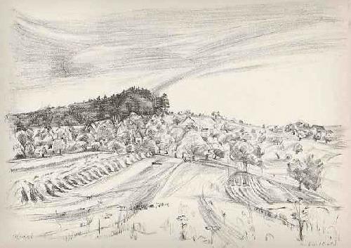 Anton Leuthold - - Der SENNHOF - Handsignierte OriginalLithographie des SCHWEIZer Künstlers 1946 kopen? Bied vanaf 45!