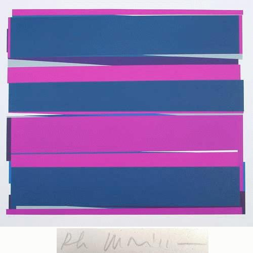 Philippe Morisson - -DISTANCES IV- Farbserigrafie auf Bütten, handsigniert, datiert, numeriert kopen? Bied vanaf 280!