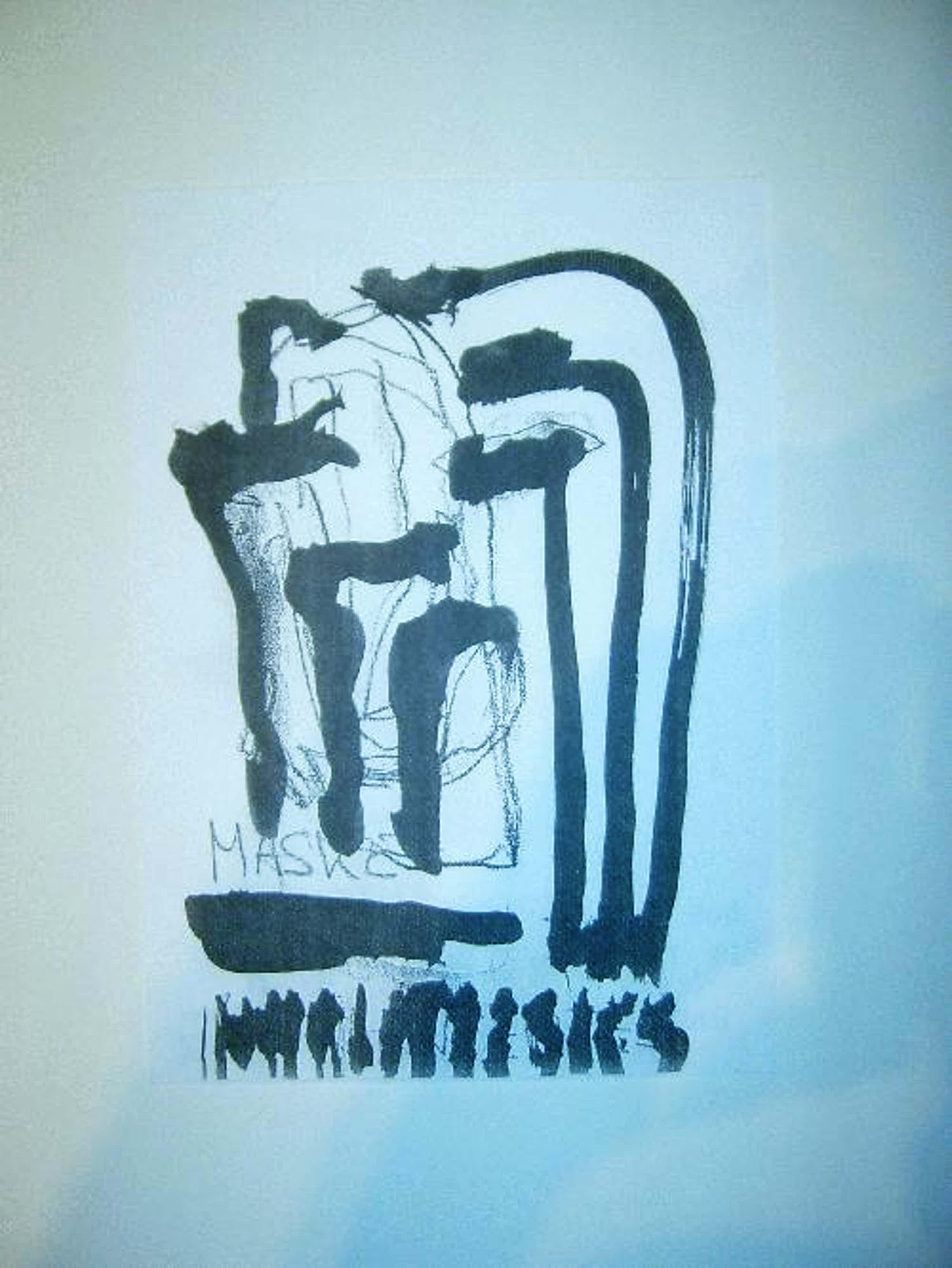 Peter Assmann - -ENTSTEHENDE MASKE- Fotokopie auf Papier, handsigniert, betitelt, datiert kopen? Bied vanaf 79!