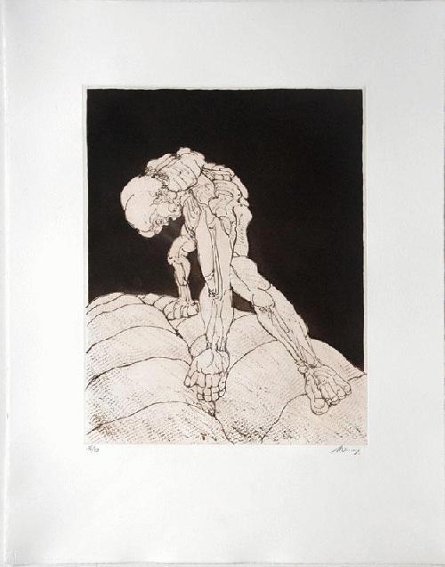 Rudolf Hoflehner - -FIGUR- Radierung auf Büttenpapier, handsigniert, numeriert kopen? Bied vanaf 390!