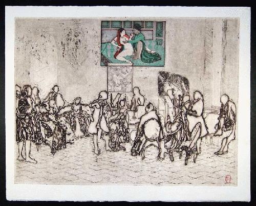 Noboru Sawai - -GRAND CONCERT- erotischer Farbholzschnitt und Radierung auf Bütten, handsig., num., 1975 kopen? Bied vanaf 260!