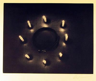 Les Levine - -GÜRTEL UND KERZEN- Radierung auf Bütten, handsigniert, numeriert kopen? Bied vanaf 490!