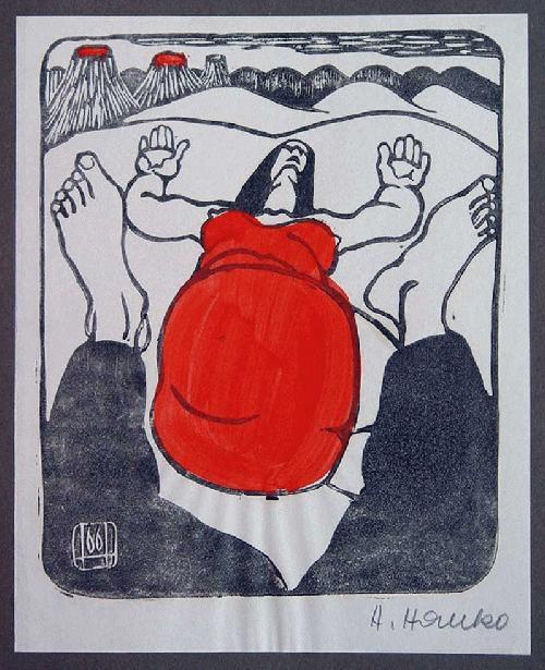 Hans Hanko - -LIEGENDE- aquarellierte Lithografie, handsigniert, 1966 kopen? Bied vanaf 110!