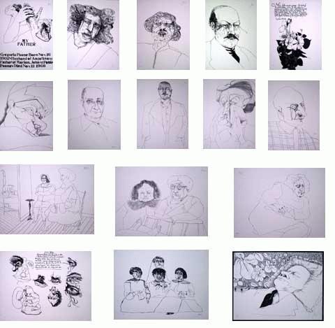 Peter Paone - -MY FATHER- Portfolio mit 16 handsignierten Lithografien auf handgesch. Arches-Bütten,1969,numeriert kopen? Bied vanaf 490!