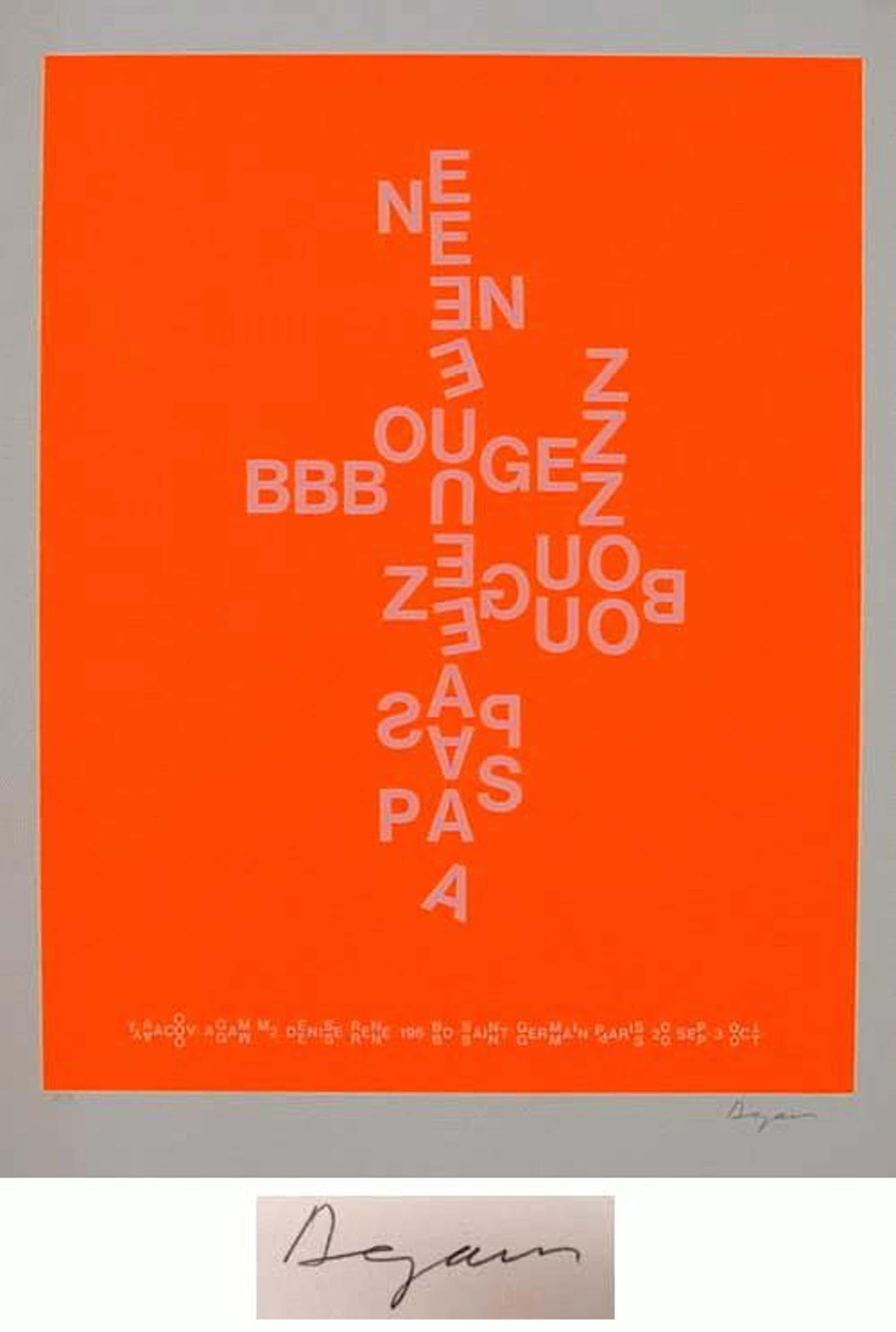Yaacov Agam - NE BOUGEZ PAS - ORANGE- Farbserigrafie, handsigniert und nummeriert kopen? Bied vanaf 240!