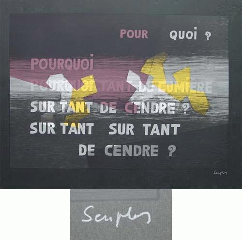 Michel Seuphor - -Pour quoi? - Farbserigrafie, handsigniert, numeriert, 1961 kopen? Bied vanaf 390!