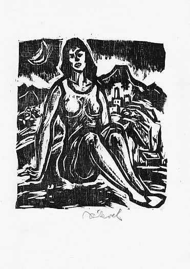 Rudolf Koch - - SOMNAMBULE ROMANZE - OriginalHolzschnitt des BRAUNSCHWEIGer Künstlers - 1979 - handsigniert kopen? Bied vanaf 28!