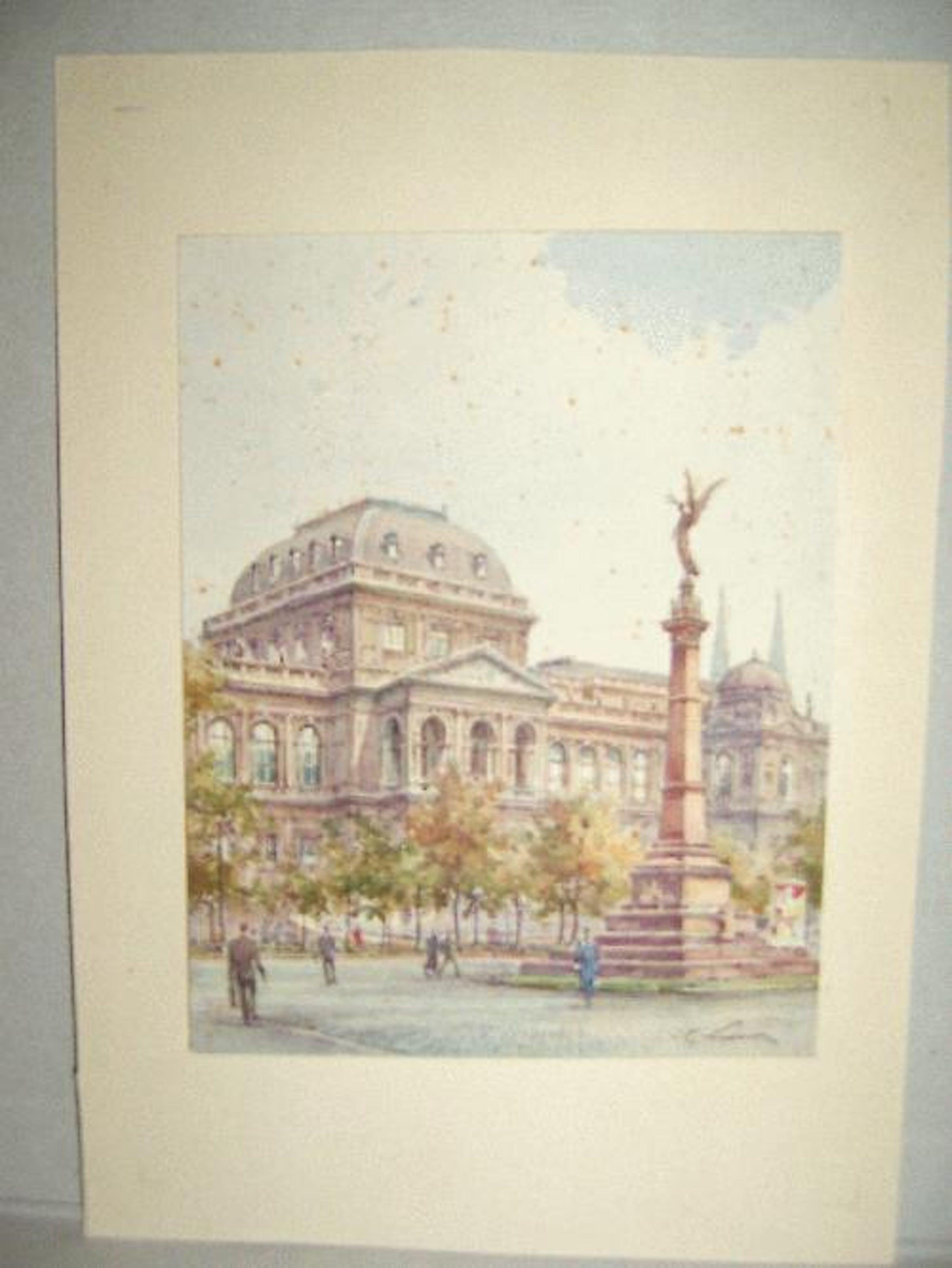 Paul Kaspar - -Wiener Universität mit Liebenberg-Denkmal-, Aquarell, handsigniert um 1920/30 kopen? Bied vanaf 790!