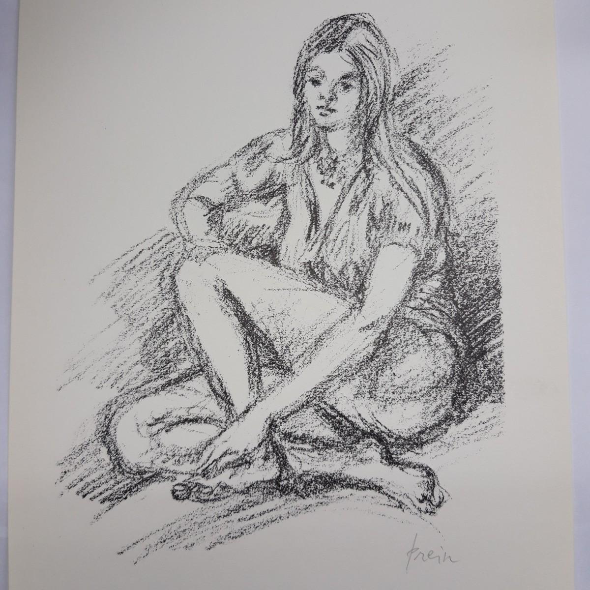 Jan Prein - 1-Farben-Lithografie 'Sabine' kopen? Bied vanaf 45!