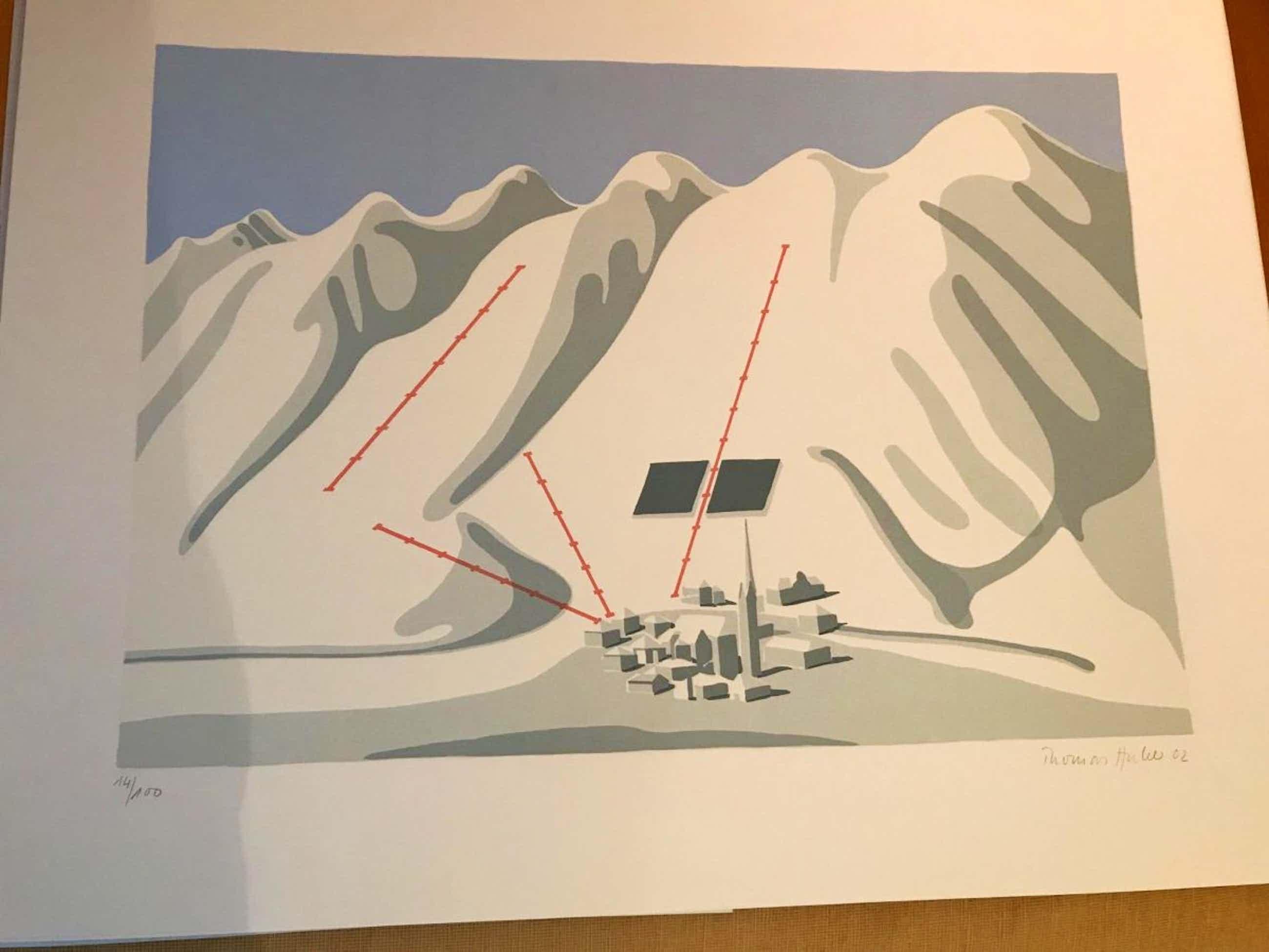 Thomas Huber - 1750 m über Meeresspiegel, Farbserigraphie,2002, handsigniert,nummeriert kopen? Bied vanaf 195!