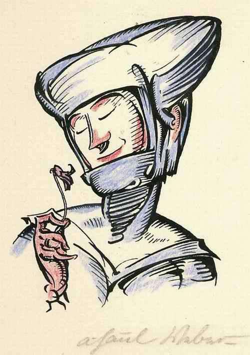 A. Paul Weber - 1920 - Das VEILCHEN - Handsignierter & colorierter OriginalManuldruck kopen? Bied vanaf 85!