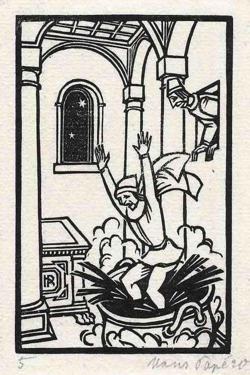 Hans Pape - 1920 Handsignierter OriginalHolzschnitt des MÜNSTERaners zum PECORONE des Fiorentino kopen? Bied vanaf 65!