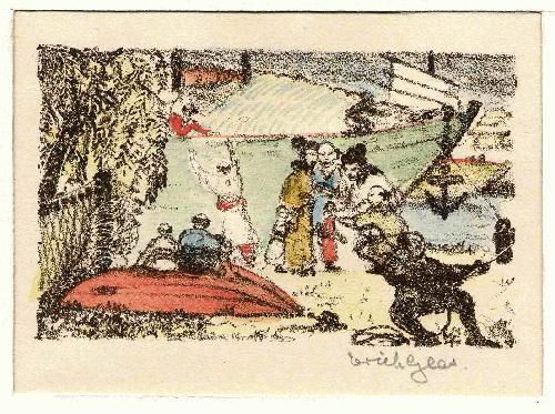 Erich Glas - 1923 - Handsignierte OriginalLithographie zum JAPANischen TOSA NIKKI DES Ki no TSURAYUKI kopen? Bied vanaf 55!