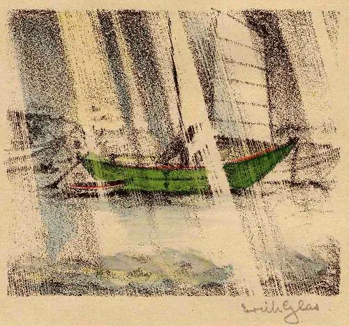Erich Glas - 1923 - Handsignierte & colorierte OriginalLithographie zum TOSA NIKKI des Ki No TSURAYUKI (JAPAN) kopen? Bied vanaf 55!