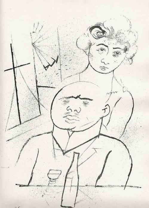 Georg Grosz - 1923 - MELANCHOLIE - Expressionistische Lithographie - Original a.dem Zyklus ECCE HOMO (MalikVerlag) kopen? Bied vanaf 99!