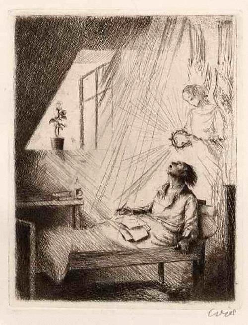 Erhard Amadeus Dier - 1927 Der MILDE TOD - Handsignierte OriginalRadierung des WIENer Künstlers kopen? Bied vanaf 48!