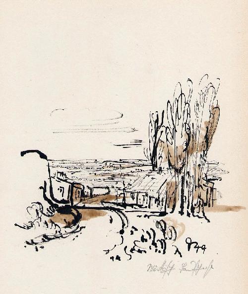 Gerhard Schultze-Seehof - 1949 - Aquarellierte OriginalFederzeichnung des Bildhauers & MosaikKünstlers aus BERLIN Handsigniert kopen? Bied vanaf 75!