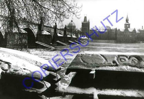 Josef Ehm - 1956 - WINTER - OriginalFotographie des Fotographen der TSCHECHISCHEN MODERNE - L HIVER - 1956 kopen? Bied vanaf 99!