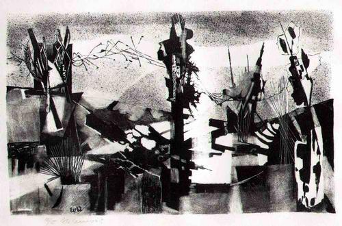 Ernst Weiers - 1962 - Handsignierte OriginalLithographie des 1936 aus der SCHWEIZ nach DEUTSCHLAND Ausgewiesenen kopen? Bied vanaf 95!