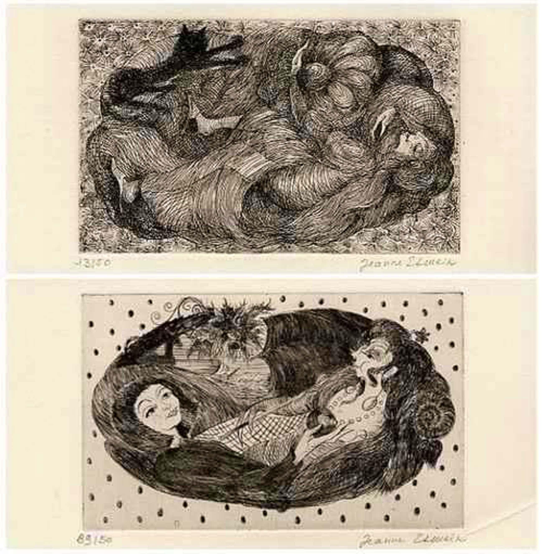 Jeanne Esmein - 2 Gravures Originales der SCHÜLERIN der Akademien JULIAN & LHOTE - signées au crayon - handsigniert kopen? Bied vanaf 65!