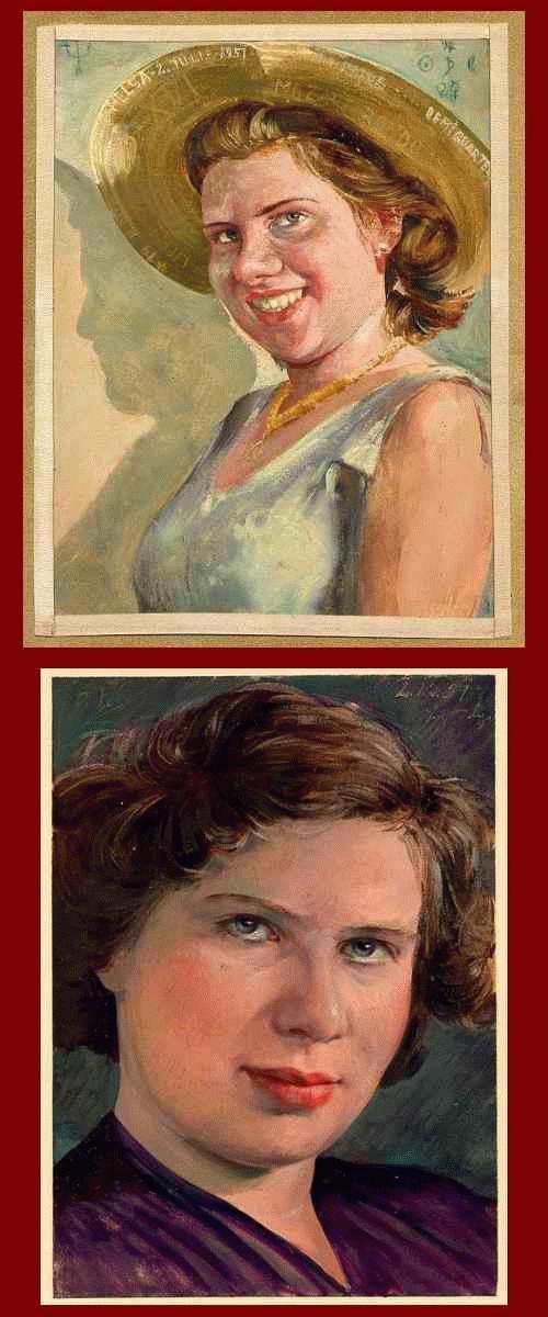 Otto POLUS - 2 Portraits in Öl von HELGA MOZART Rondo Demi-Quartet No.19 D-Dur Licht & Schatten 1951 signiert kopen? Bied vanaf 280!
