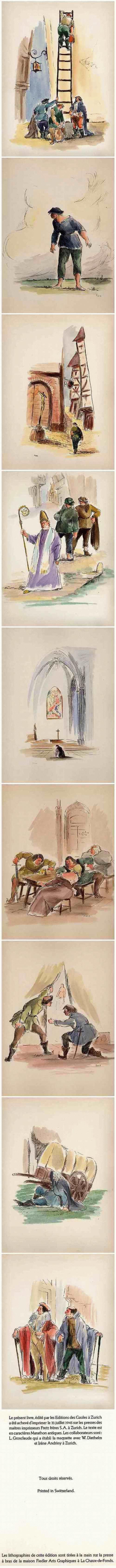 Pierre Stampfli - 27 handkolorierte OriginalLithographien des SCHWEIZer Künstlers - zu VILLONs BALLADES 1945 kopen? Bied vanaf 270!