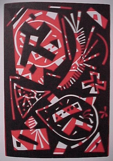 Otto Nebel - 4 Farblinolschnitte 1963, mit Katalog kopen? Bied vanaf 70!