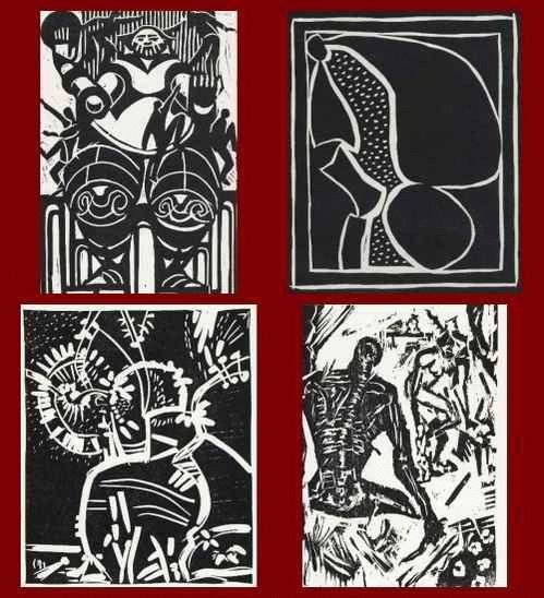 Galerie Nierendorf - 4 Original-Graphiken 1970 von Herta NEUMANN - Erhard GROSS - Heinrich RICHTER - Paul HERRMANN kopen? Bied vanaf 25!