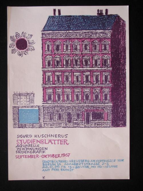 Sigurd Kuschnerus - 5 PLAKATE in FARBLITHOGRAPHIEN , 1967 BERLIN kopen? Bied vanaf 50!