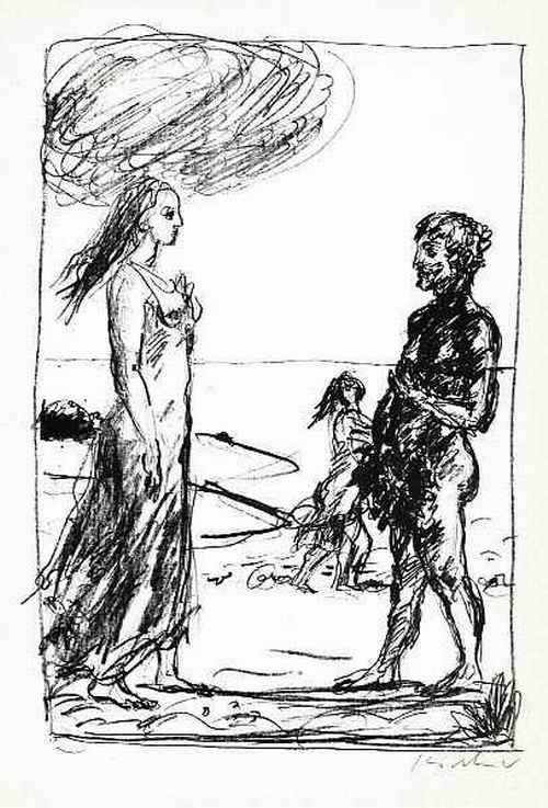 Robert Kirchner - 8. GESANG der ODYSEE - 1966 - OriginalRotaprintzeichnung des Künstlers aus KISSINGEN - Handsigniert kopen? Bied vanaf 32!