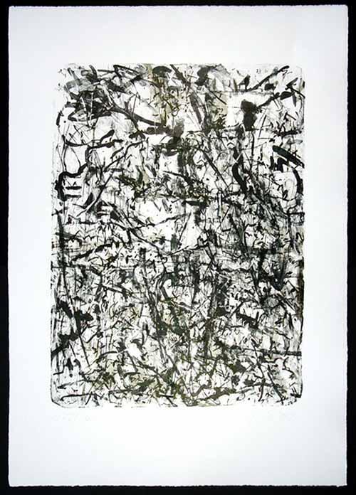 Jörg Hoffmann - a la Mark Tobey - Lithographie auf Bütten von 1991 - handsigniert, nummeriert kopen? Bied vanaf 48!
