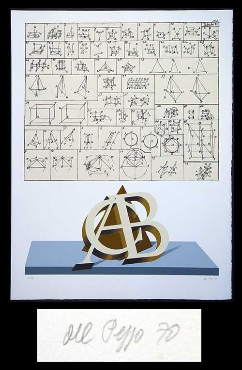 Lucio del Pezzo - ABC Geometrico - Farblithographie 1970 - handsigniert und nummeriert - 28/100 kopen? Bied vanaf 160!