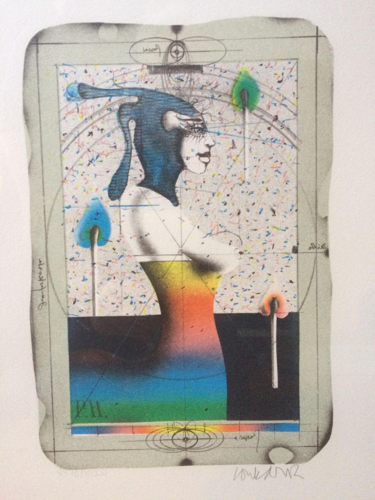 Paul Wunderlich - Abstrakte Figur - handsignierte Lithographie kopen? Bied vanaf 60!