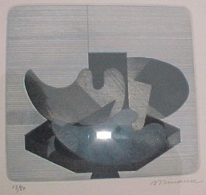 Andrè Minaux - Abstraktes Stilleben, Farbradierung, ca. 1978 kopen? Bied vanaf 50!