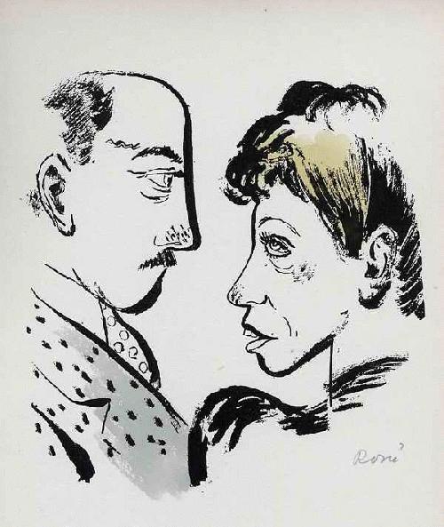 Paul Rosiè - ADAM & EVA - Handsigniertes & -koloriertes Portrait eines BERLINer PAARES 1949 (KHS Weißensee) kopen? Bied vanaf 56!
