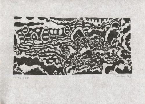 Gottfried Teuber - Aeneis - zu Vergil - Linolschnitt - 1973 kopen? Bied vanaf 45!