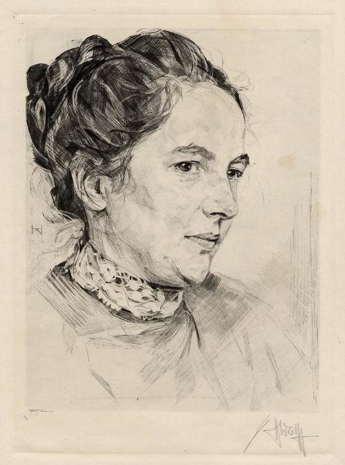 Heinrich Wolff - Agnes MIEGEL - Portrait - Handsignierte OriginalRadierung des MÜNCHENer PRIVATDOZENTEN a.SCHLESIEN kopen? Bied vanaf 120!