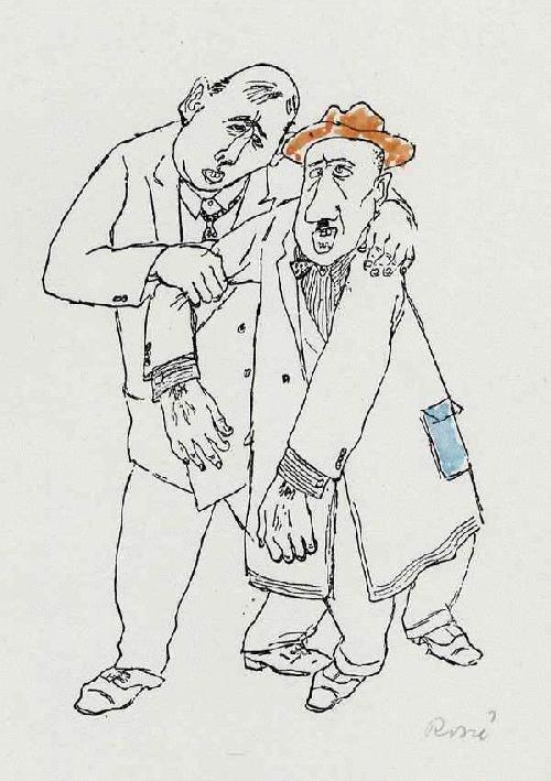 Paul Rosiè - ALKOHOL - Handsigniertes & -koloriertes Portrait 2er BERLINer NACHTSCHWÄRMER 1949 (KHS Weißensee) kopen? Bied vanaf 56!