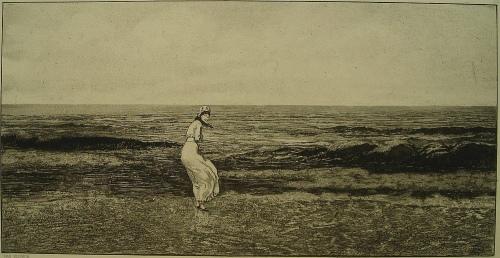 Max Klinger - Am Meer, Opus IV Intermezzi, Radierung von 1879/81 kopen? Bied vanaf 180!