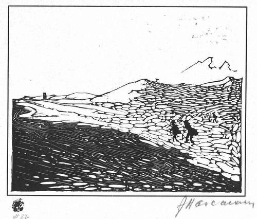 Arminius Hasemann - Am WÜSTEN STRAND von ANDALUSIEN Handsignierter OriginalHolzschnitt des GENIALEN HOLZSCHNEIDERs 1915 kopen? Bied vanaf 95!