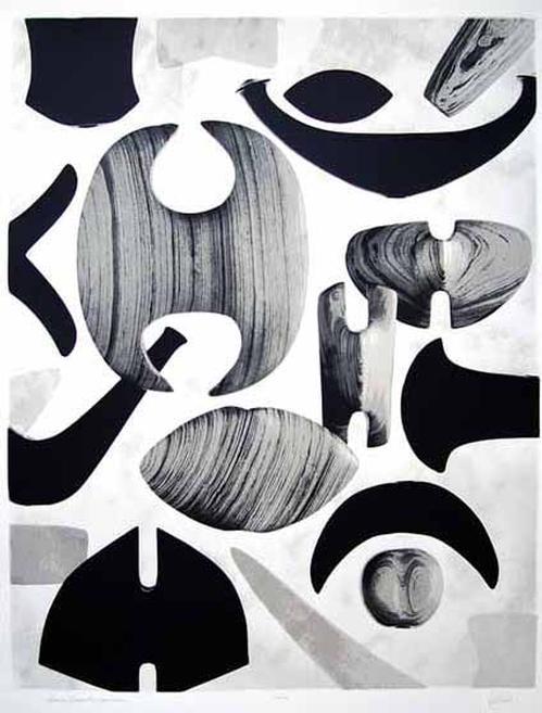 Corson Hirschfeld - American bannerstones 5000-1000 B.C., sehr große Serigraphie, 1979, signiert kopen? Bied vanaf 80!