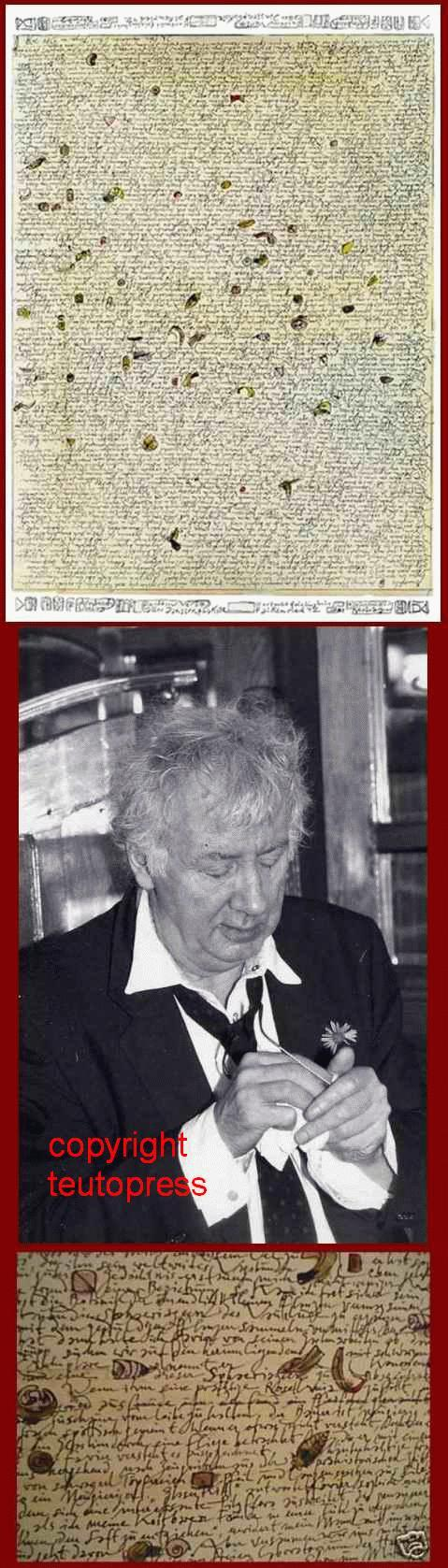 Horst Janssen - AMMOPHILA - handsigniertes Schriftblatt zu Das OFFENBARE GEHEIMNIS 1980 + OriginalFotoPortrait 1991 kopen? Bied vanaf 84!