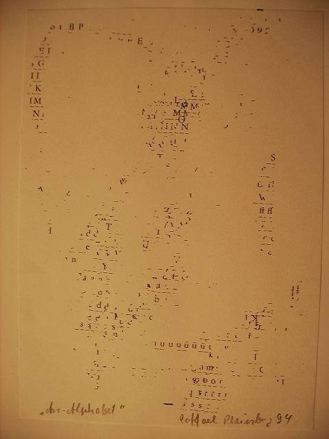 Raffael Rheinsberg - An-Alphabet - Original-Zeichnung aus Letrasetbuchstaben von 1994, signiert, betitelt und datiert kopen? Bied vanaf 150!