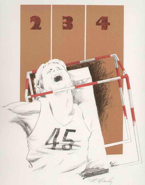Klaus Hruby - ANABOLIKA - Handsignierte OriginalLithographie des SCHLESIENgeboren PFORZHEIMer Malers - 1985 kopen? Bied vanaf 95!