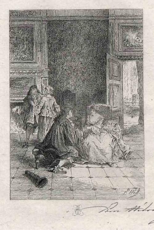 Edmond Hèdouin - ANBETUNG der GELIEBTEN - Handsignierte OriginalRadierung - EauForte Originale signée au crayon kopen? Bied vanaf 39!