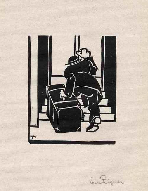 Leo TILGNER - - ANKUNFT und RÜCKKEHR - Original Linolschnitt - handsigniert - 1932 kopen? Bied vanaf 40!