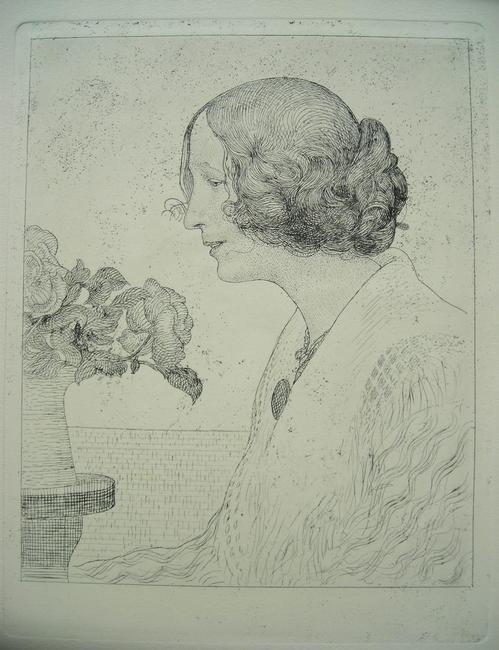 Carl Larsson - Anna Stina, Radierung von 1911,(späterer Abzug des Verlages Hjert&Hjert) kopen? Bied vanaf 180!