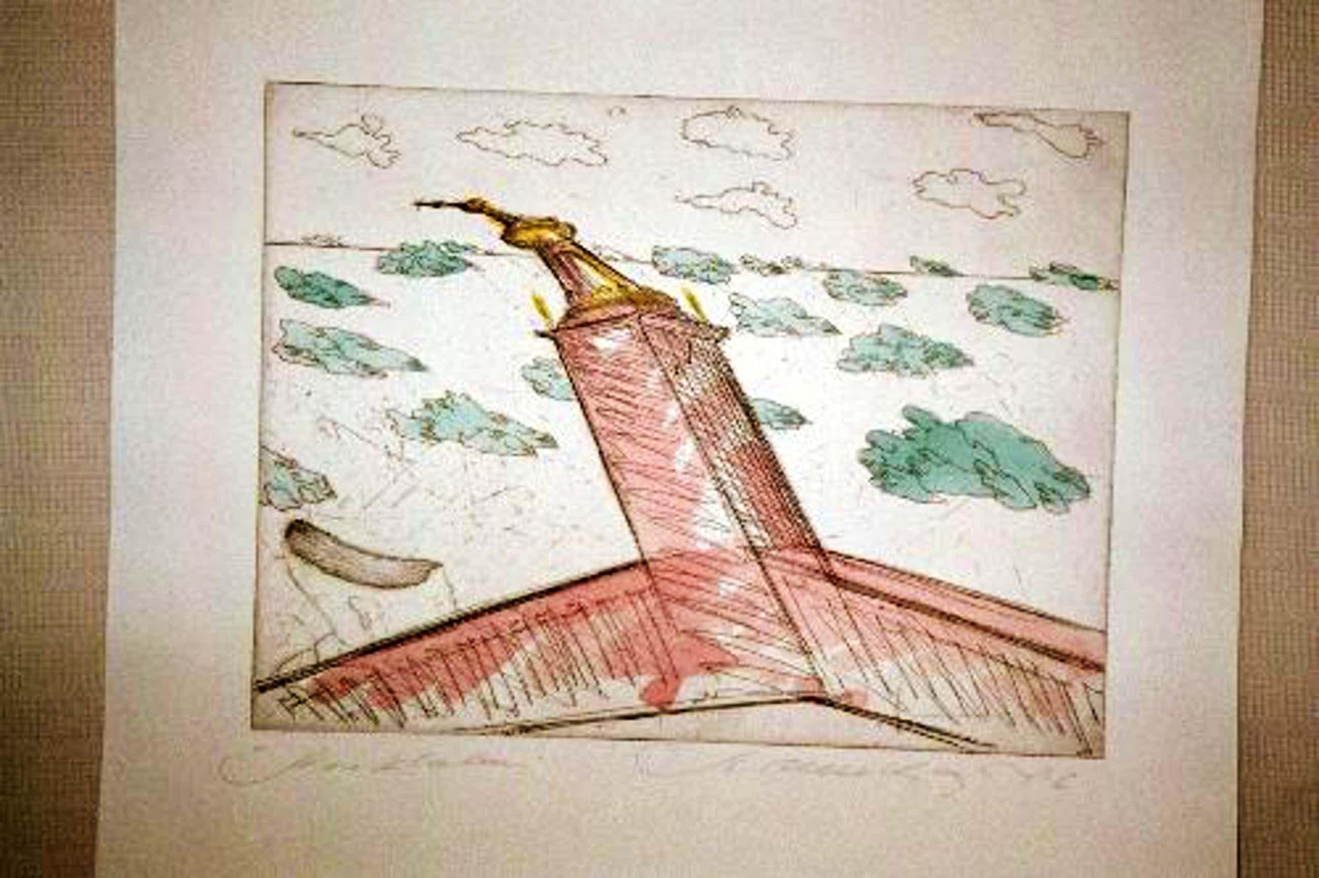 Stefan Wewerka - Aquarell auf Radierung, handsigniert, 1976 kopen? Bied vanaf 290!
